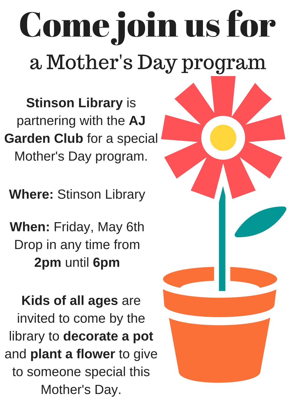 Completed] Spring is blooming and so is the library– Mother\'s Day ...